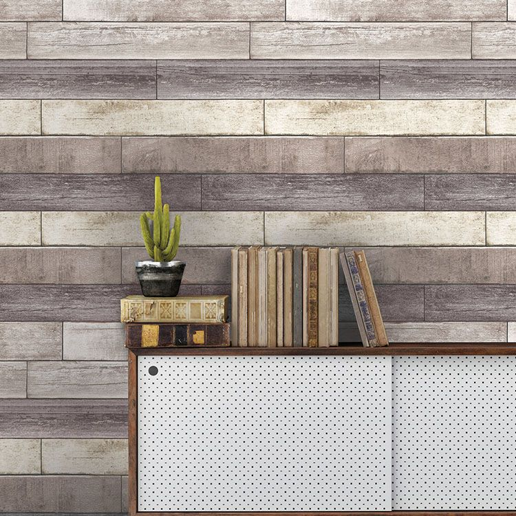 はがせる 壁紙 シール 「NUWALLPAPER」 Reclaimed Wood Plank Natural Peel and Stick Wallpaper / NU1690(NU3130)