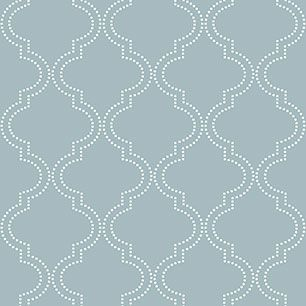 【サンプル】はがせる 壁紙 シール 「NUWALLPAPER」 Slate Blue Quatrefoil Peel And Stick WALLPAPER / NU1826