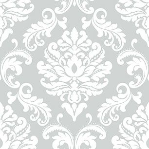 【サンプル】はがせる 壁紙 シール 「NUWALLPAPER」 Ariel Grey Peel and Stick WALLPAPER / NU1935