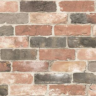 【サンプル】はがせる 壁紙 シール 「NUWALLPAPER」 Newport Reclaimed Brick Peel and Stick WALLPAPER / NU2064