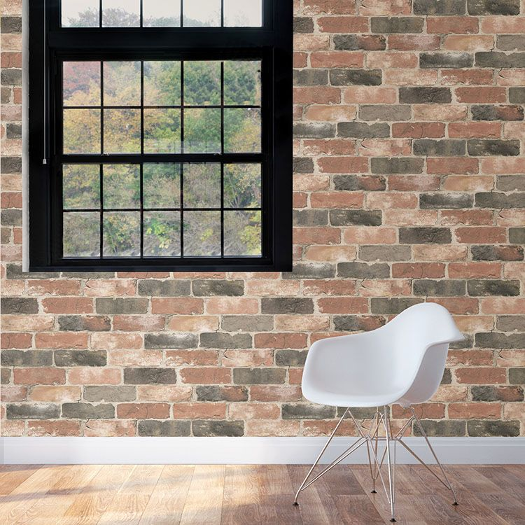 はがせる 壁紙 シール 「NUWALLPAPER」 Newport Reclaimed Brick Peel and Stick Wallpaper / NU2064(NUS2064)