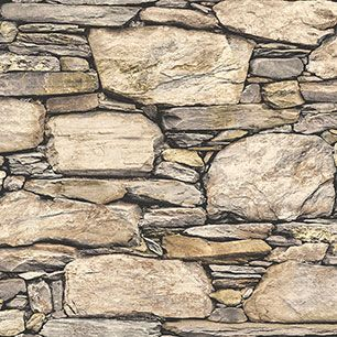 【サンプル】はがせる 壁紙 シール 「NUWALLPAPER」 Hadrian Stone Wall Peel and Stick WALLPAPER / NU2065