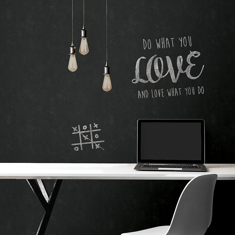 はがせる 壁紙 シール 「NUWALLPAPER」 Vintage Chalkboard Peel and Stick Wallpaper / NU2220