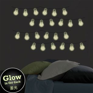 WALL POPS! / ウォールポップス Bright Ideas Glow in the Dark Wall Art Kit / WPK3016