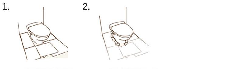 チラシなどで型紙を作る