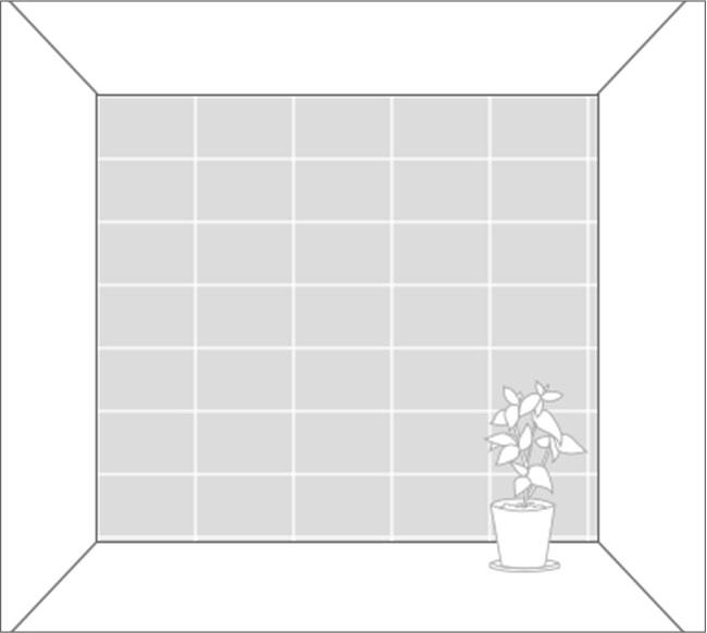 6畳間正方形に貼る場合