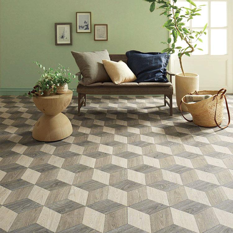 幾何学柄の寄木パターン 品番:SCM-4220