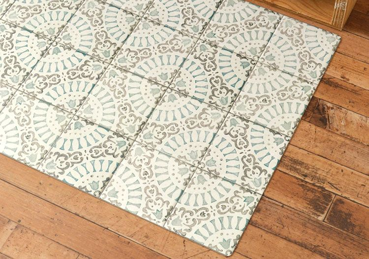 Antique Tile Aquamarine × Stone シックなスモーキーカラーのアンティークタイルデザイン