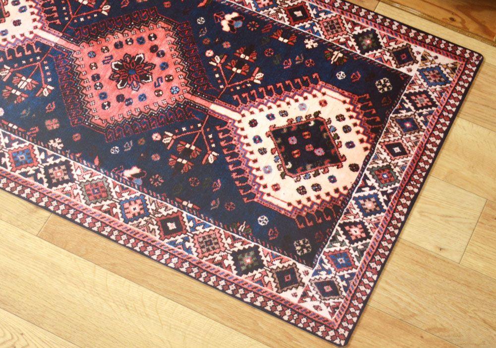 Persian Carpet 02 本物のペルシャじゅうたんのデザインを キッチンマットサイズにアレンジ