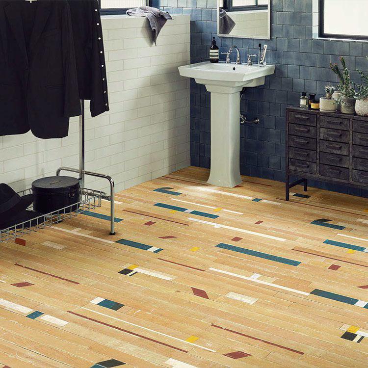 体育館の床をリユースした柄 品番:SHM-4004