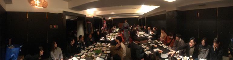 大阪の老舗焼肉店「食道園」にて大宴会